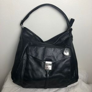 Cole Haan Large Black Leather Hobo